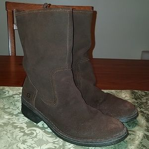 BORN Oil Rubbed Suede Boots